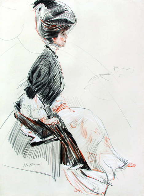 Paul César Helleu, 'Winaretta Singer, Princesse Edmond de Polignac', Late 19th Century, Mark Murray Fine Paintings