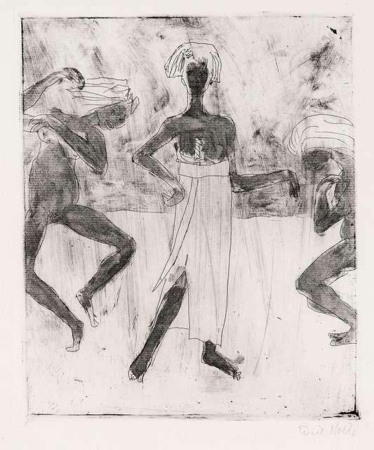 , 'Junger Fürst und Tänzerinnen,' 1918, Galerie Thomas