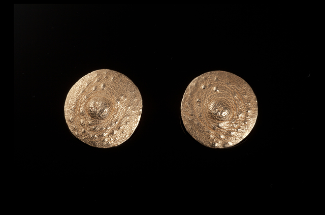 ", '""Tender Buttons"" gold nipple brooches,' 1994, Didier Ltd."