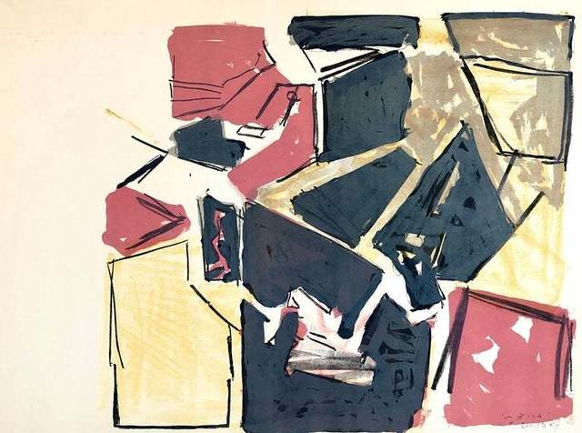 "Igael Tumarkin, 'Israeli Josef Zaritsky Abstract Modernist Lithograph Print ""Composition""', 1950-1959, Lions Gallery"