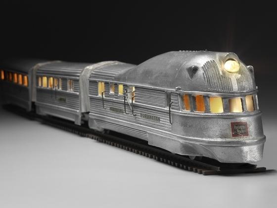 Unknown Artist, 'Burlington Zephyr Electric Train Model', 1934, Norton Museum of Art
