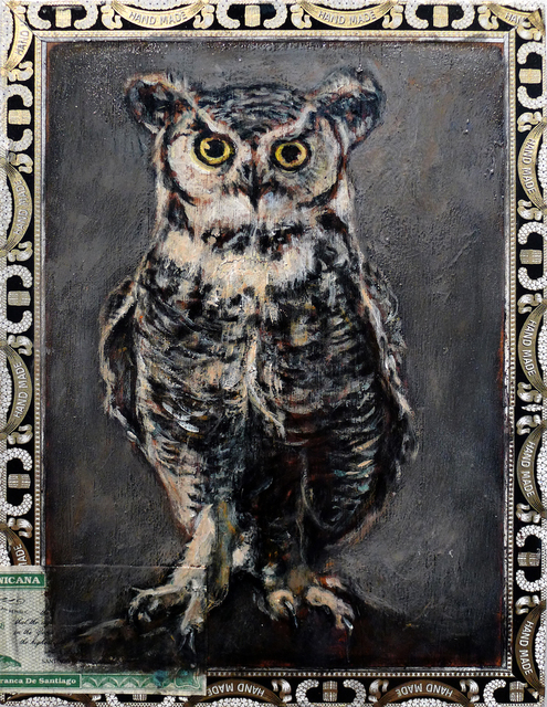 , 'Great Horned Owl / Curly Head Deluxe,' , Gail Severn Gallery