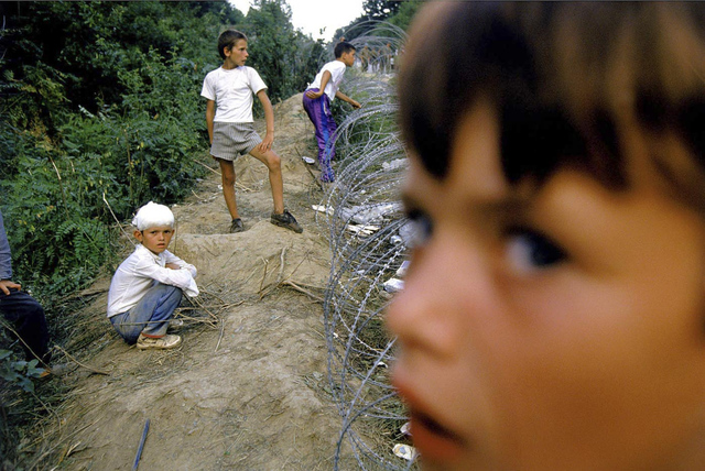 , 'Survivors from Srebrenica arrive to safety at a United Nations camp.,' , Anastasia Photo