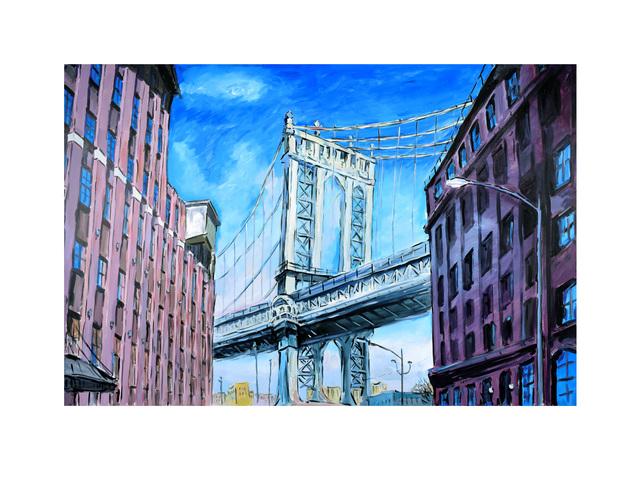 , 'Manhattan Bridge, Downtown New York (2019),' 2019, Castle Fine Art