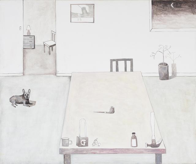 , 'Interior with French Bulldog,' 2019, Darren Knight Gallery