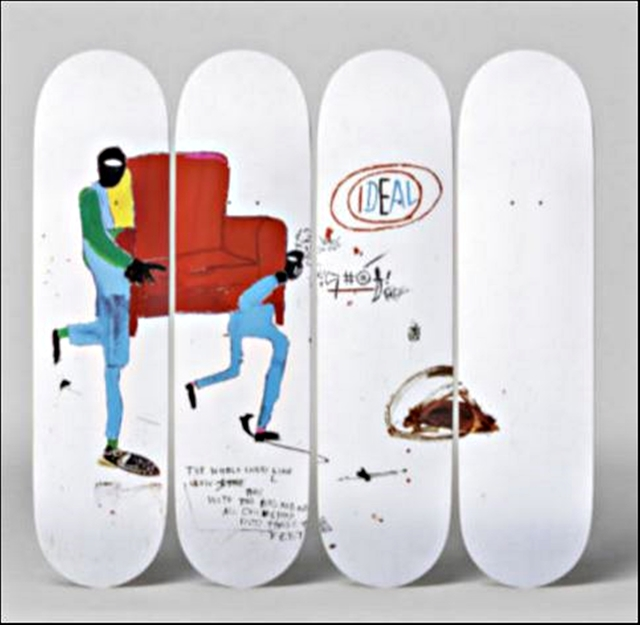 , 'Light Blue Movers - Set of Four (4) Skateboard Decks with hinges,' 2015, Alpha 137 Gallery