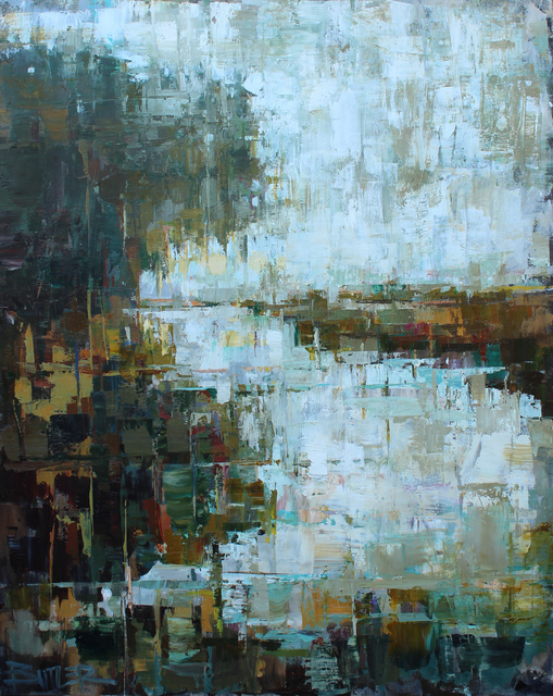 Curt Butler, 'Veiled in Tenuous Green Mists ', 2020, Painting, Encaustic and Oil on Canvas, Shain Gallery