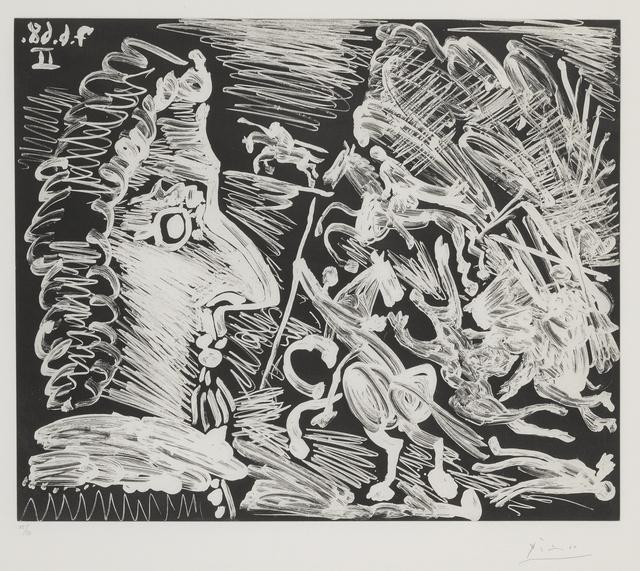 Pablo Picasso, 'Mousquetaire de profil, avec combat à la lance (B. 1614; Ba. 1640)', 1968, Sotheby's