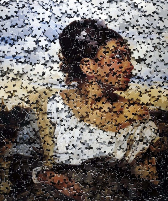 , 'Orphan Girl at the Cemetery, after Delacroix from Gordian Puzzles,' 2008, Contemporary Works/Vintage Works