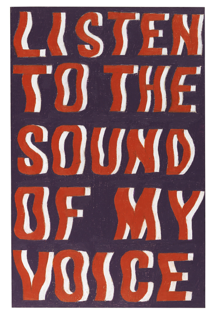 , 'Listen to the Sound of My Voice,' 2018, Galerie Forsblom