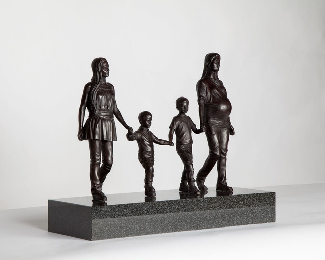 , 'A Real Birmingham Family,' 2015, Plinth