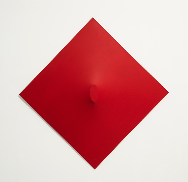 Turi Simeti, 'Un Ovale Rosso', 1967, Painting, Acrylic on shaped canvas, Hollis Taggart