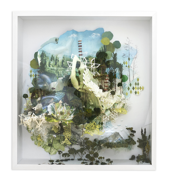 , 'Thin White Bend Through Treetop and Twisting,' 2015, Hashimoto Contemporary