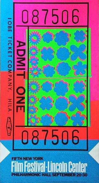 Andy Warhol, 'Lincoln Center Film Festival Ticket (Feldman & Schellmann II.19)', 1967, Alpha 137 Gallery