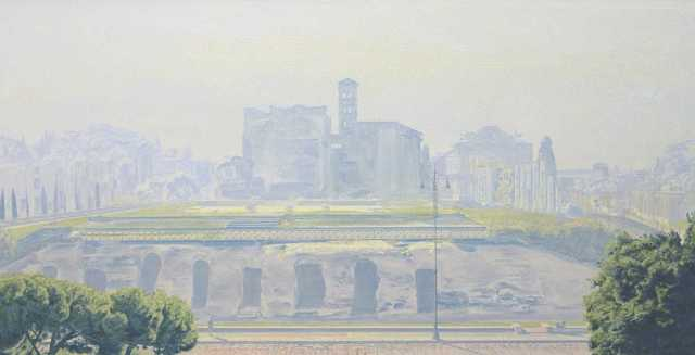 David Wheeler, 'Ethereal Landscape II (Rome)', ca. 2014, Painting, Oil on canvas, Plus One Gallery