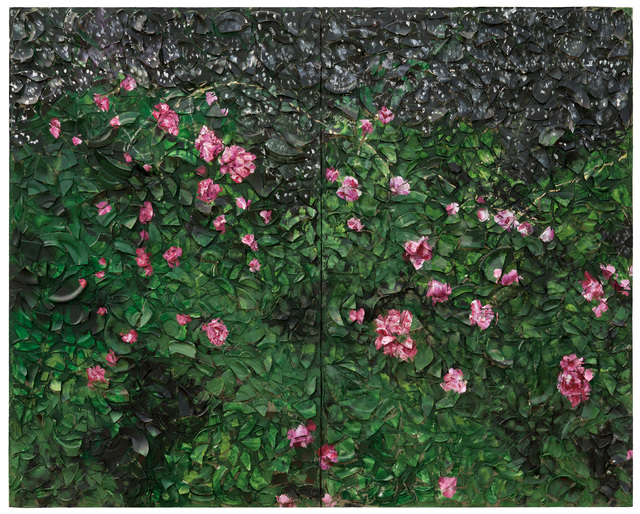 , 'Rose Painting (Near Van Gogh's Grave) X,' 2016, Pace Gallery