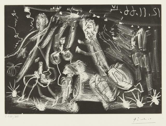 """Pablo Picasso, 'Sous le feux de la rampe: """"Au Viol!"""" (B. 1415; Ba. 1430)', Print, Aquatint and etching, Sotheby's"""