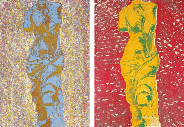 Jim Dine, 'Nine Views of Winter 6; and Nine Views of Winter 9', 1985, Phillips