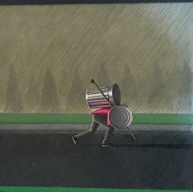 , 'Warrior Moving His House in the Rain,' 2018, KP Projects