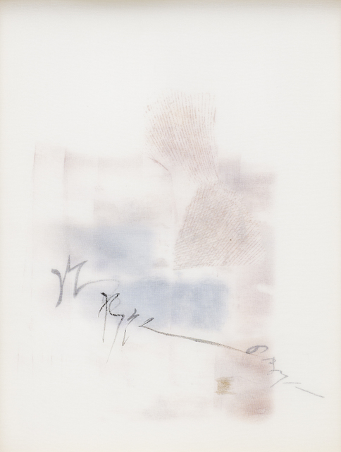 Chaco Terada, 'White Autumn', 2019, Mixed Media, Archival pigment print on layers of silk organza with sumi ink and mineral pigments, Valley House Gallery & Sculpture Garden