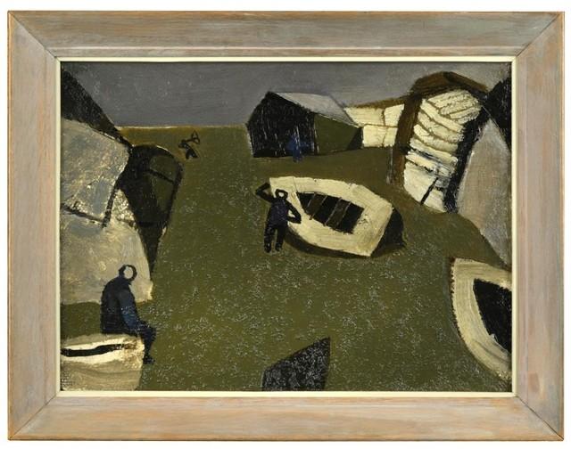 , 'Grey Shore Seascape,' 1950, Osborne Samuel