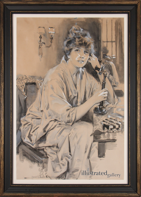 Howard Chandler Christy, 'Portrait of Woman', 1916, Drawing, Collage or other Work on Paper, Ink and Gouache on Paper, The Illustrated Gallery