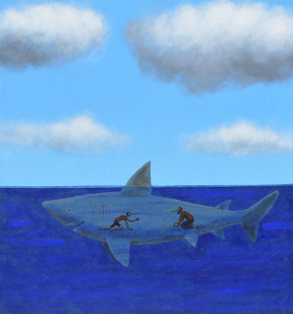 Pepe Yagües, 'Reencuentro con la barriga del tiburón Atila', 2019, Blanca Soto Arte