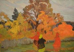 Lidya Stanislavovna Nefedova, 'Autumn melody', 1964, Painting, Oil on panel, Surikov Foundation