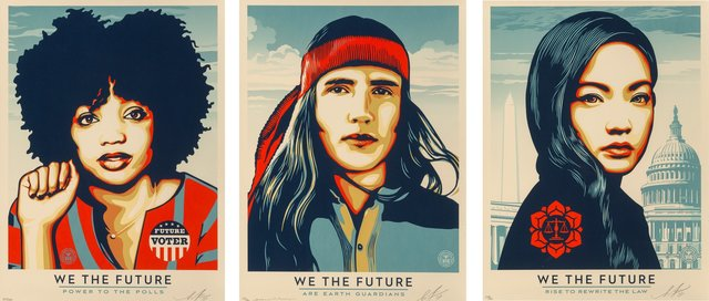 Shepard Fairey, 'We the People, set of three', 2017, Heritage Auctions