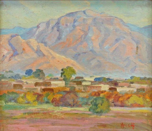 hella shattuck, 'Sunset on the Manzano Mountains, Isleta Indian Village, NM', Unknown, Addison Rowe Gallery