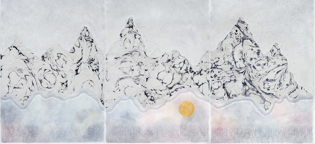 ", 'the mountains ""the wait"" (triptych),' 2017, Galerie du Monde"