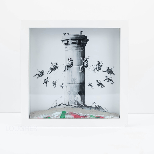 Banksy, 'Walled Off Hotel Boxset', 2017, Print, Art print housed in a locally sourced frame from Bethlehem with a chunk of concrete, Lougher Contemporary