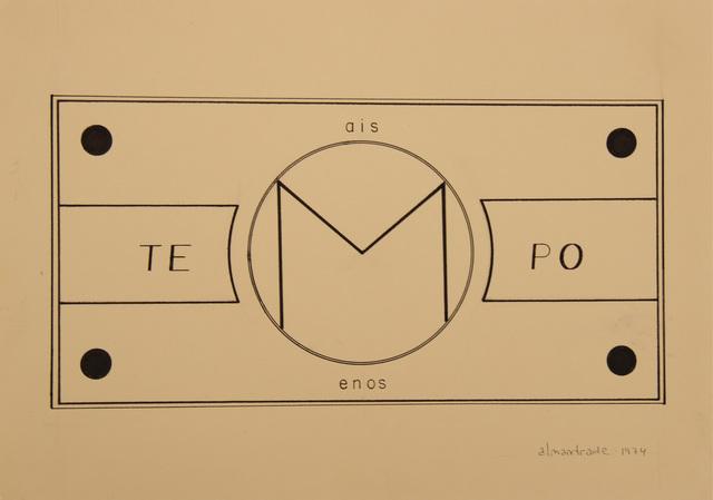, 'No Title, Visual Poem,' 1974, Roberto Alban Galeria de Arte