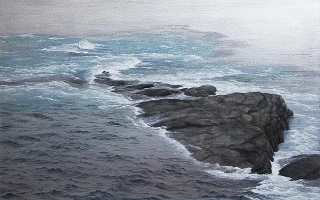 Lisa Lebofsky, 'Land and Sea', 2017, Painting, Oil on Aluminum, James Baird