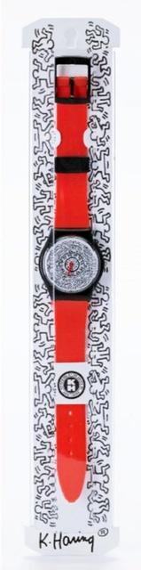 Keith Haring, 'Keith Haring Running Time Wrist Watch (Red)', ca. 1992, Alpha 137: Prints & Exhibition Ephemera VII