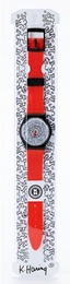 Keith Haring Running Time Wrist Watch (Red)