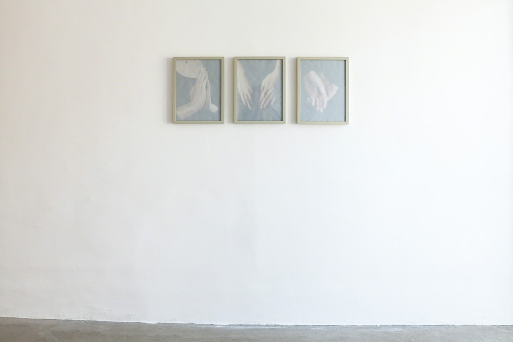 "Michael Volkmer: installation view, ""hand sketch Eva-Marie"", 2015 