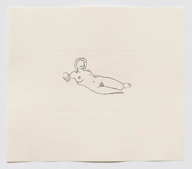 Tom Wesselmann, 'Monica Reclining (Black)', 1986-1990, Cristea Roberts Gallery