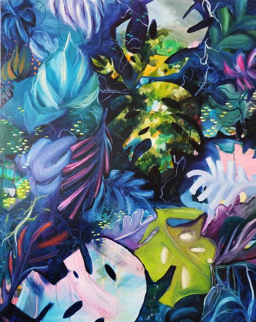 Julia Benz, 'Bohemian', 2017, Painting, Acrylics, Ink, Spraypaint on canvas, Die Kunstagentin