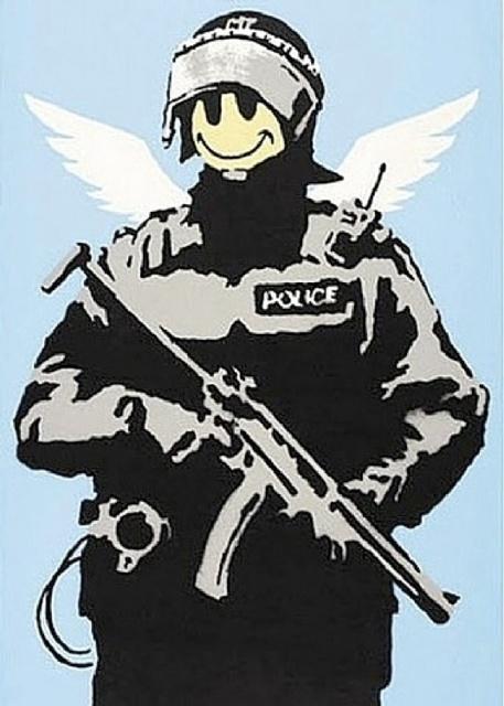Banksy, 'Flying Copper', 2004, Maddox Gallery