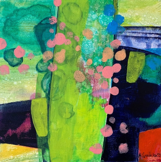 Anna Masiul-Gozdecka, 'Spring wonders', 2021, Painting, Acrylic on canvas, Gallery Katarzyna Napiorkowska | Warsaw & Brussels