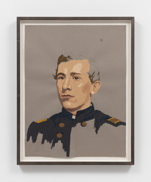 Matthew Benedict, 'Study of a Hero's Head (Major Frank Biddle Ward)  ', 2019, Drawing, Collage or other Work on Paper, Gouache and pencil on paper, Alexander and Bonin