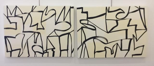 Melissa Meyer, 'Untitled (Dyptich) ', 2018, Nikola Rukaj Gallery