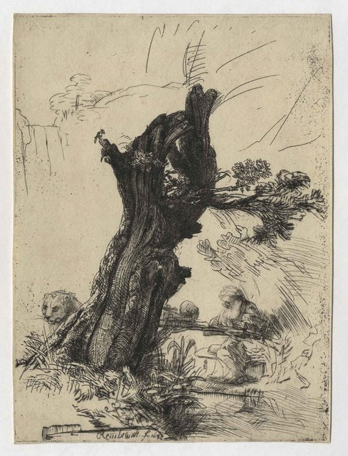 Rembrandt van Rijn, 'St. Jerome beside a Pollard Willow', 1648, C. G. Boerner