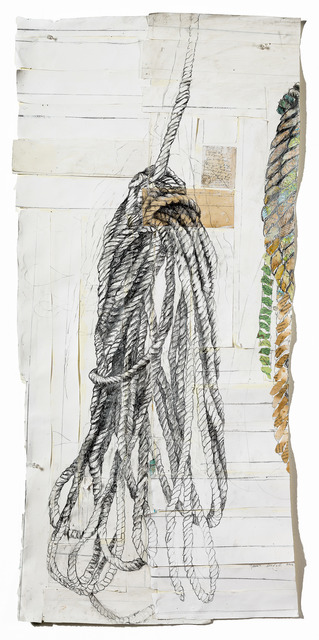 Raine Bedsole, 'Ropes', 2016, Mixed Media, Antique paper and maps, graphite, watercolor on paper, Callan Contemporary