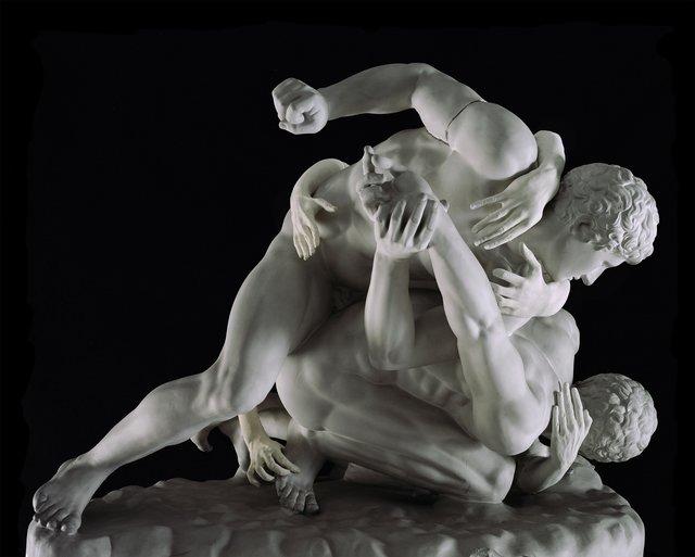 , 'Wrestlers,' 2017, Cynthia Corbett Gallery