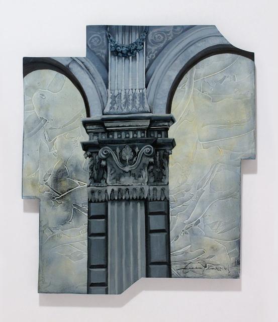 Cecilia Villanueva, 'Museo del Estanquillo, Mexico City Architecture, blueprint softones blue, texture like watercolor, cityscape, postmodern woodcut, conceptual art', 2015, Archway Gallery