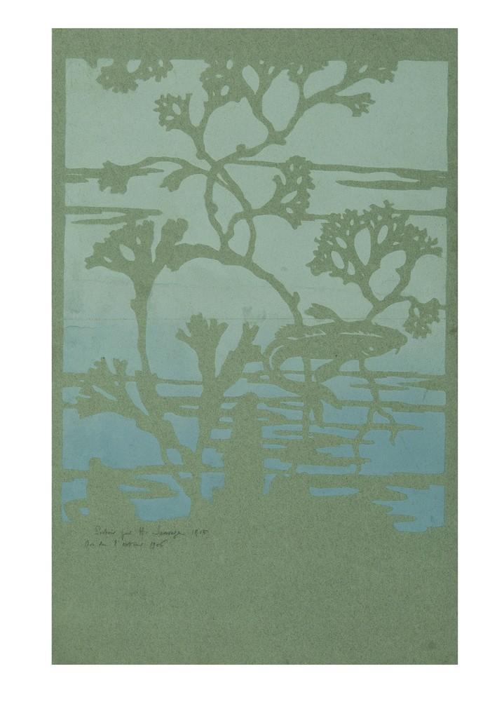Henri Sauvage, tinted paper, stencil printing, 1905 © Les Arts Décoratifs, Paris, Photo : Jean Tholance