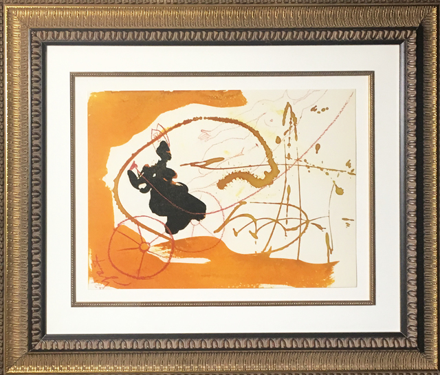 Salvador Dalí, 'Elijah By Means Of Whirlwind On A Chariot Of Fire', 1967, Print, Original colored lithograph on heavy rag paper, Baterbys