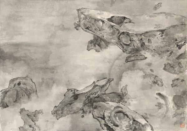 , 'Mountains Locked in Mist 云山烟锁,' 2016, Ink Studio